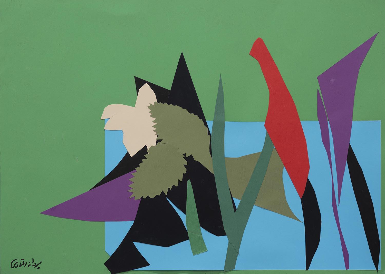 Parvaneh-Etemadi-Untitled-50x70-cm-collage-on-cardboard-2019-3-Courtesy-of-INJA-Gallery-1