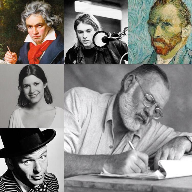 هنرمندان مبتلا به اختلال دوقطبی را بشناسید