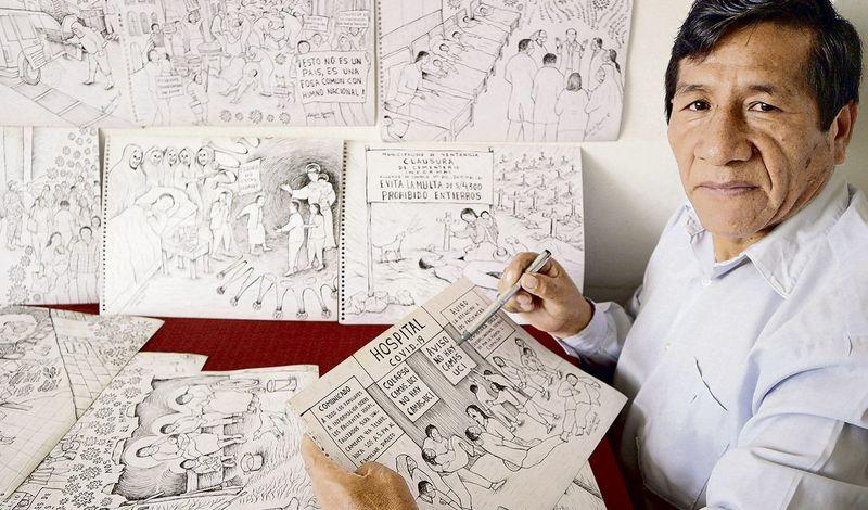 «کروناویروسِ جدید و دولتِ خوب» روایت هنرمند پرویی از شهر فقیر و کرونا زده