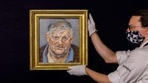 پرتره دیوید هاکنی اثر لوسین فروید بیش از ۲۰ میلیون دلار فروختهشد