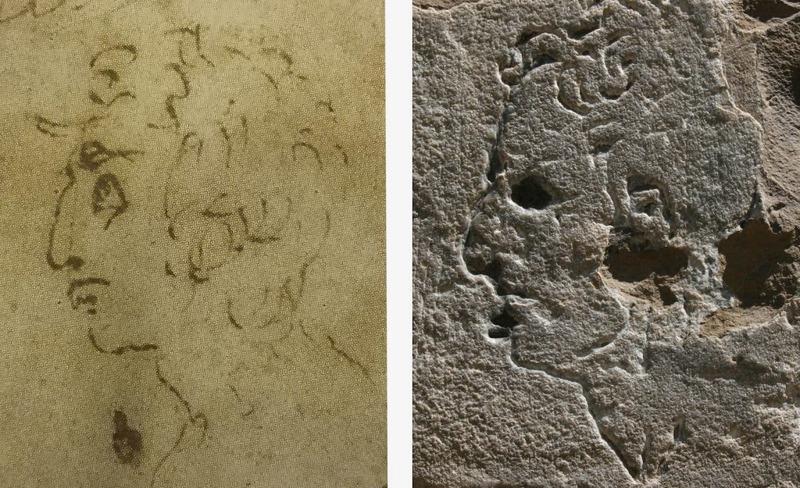 حکاکی بر دیوار تاریخی در فلورانس احتمالا اثر میکل آنژ است!
