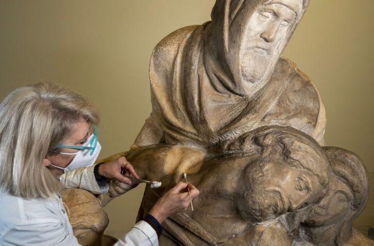 مجسمه پیهتایی که میکل انژ برای مقبره خودش ساختهبود مرمت شد و در معرض نمایش قرار گرفت