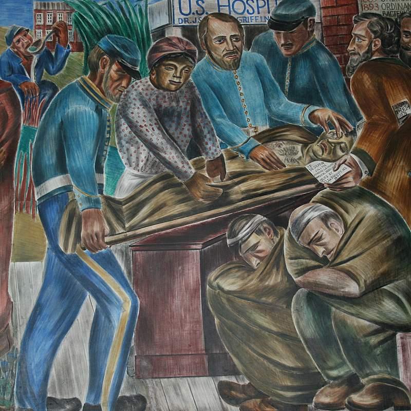 یک پرستار  که قبلا جان مردم را نجات میداد این بار شاید یک اثر هنری را نجات دهد