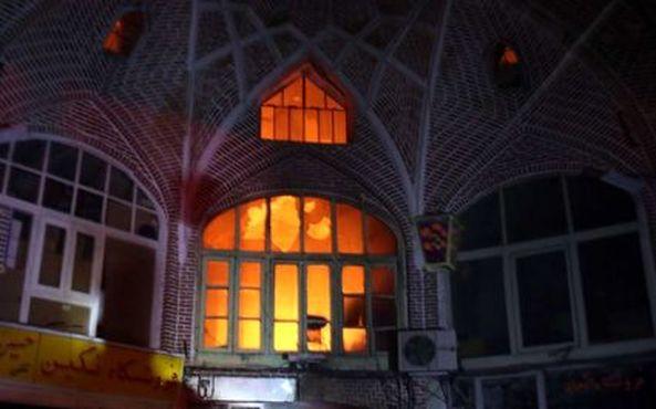 آتش+سوزی+بازار+تبریز