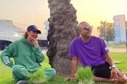 سیزدهبدر مهناز افشار در کنار آرش