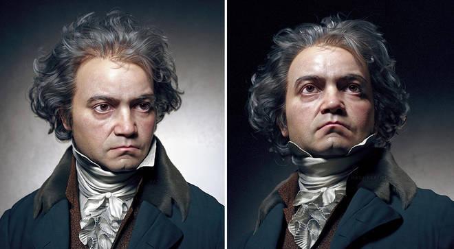 بازسازی سه بعدی چهره واقعی بتهوون