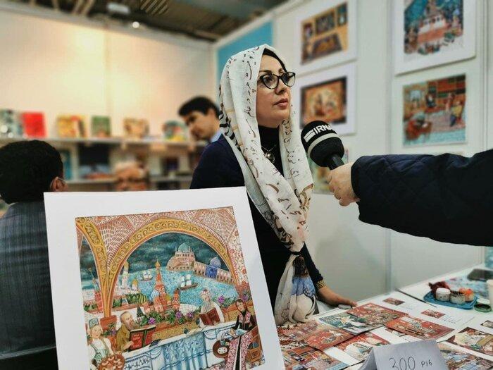 هنرمند تصویرگر ایرانی «عمر خیام» و «داستایفسکی» را در مسکو هم نشین کرد