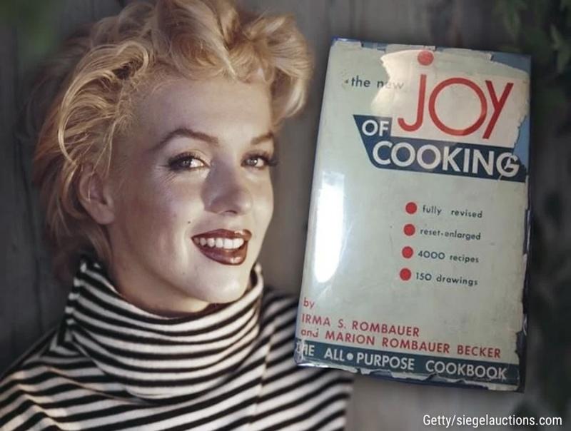 کتابهای آشپزی مریلین مونرو زیر چکش حراج