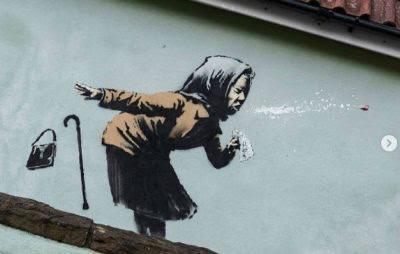 «زنی در حال عطسه» اثر بنکسی زیر چکش حراج