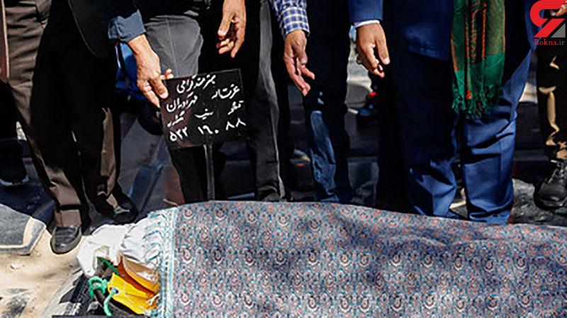 ۹ عکس تکاندهنده از پیکر و محل دفن عزتالله مهرآوران