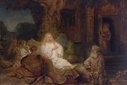 تابلو ابراهیم و فرشتگان، اثر رامبراند زیر چکش حراج