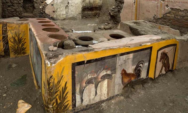 کشف پیشخوان یک رستوران در منطقه باستانی پمپئی
