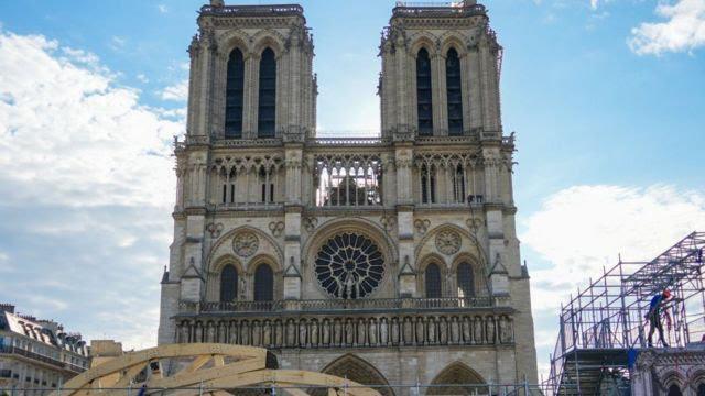 پایان عملیات ایمنسازی کلیسای نوتردام پاریس