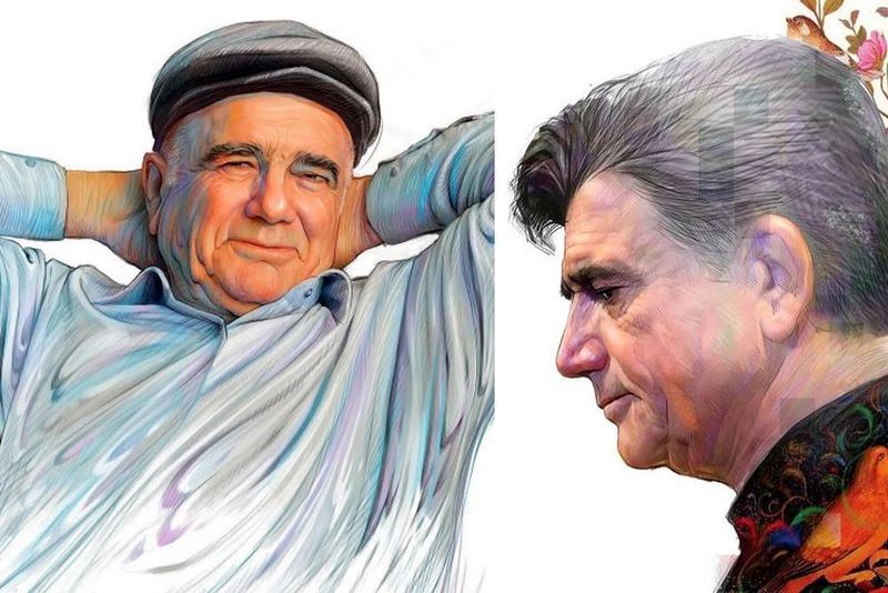 زیباترین نقاشیها از چهره محمدرضا شجریان